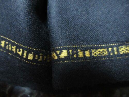 Ermenegildo Zegna 90% wool/10% cashmere black mens suit fabric 2 yds