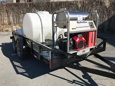 Hot Water Pressure Washer Trailer Mounted-8gpm3600psi-honda Gx690