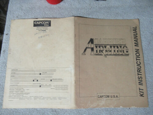 poor condition CARRIER AIRWING CAPCOM  ARCADE game manual