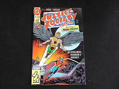 Justice Society of America #5 - featuring Flash & Hawkman (Aug 1991 DC)