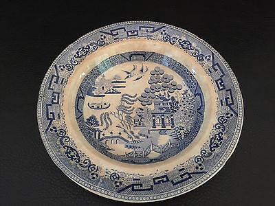 English  Stone China  Blue Soup Bowl 1860   1870S Asian Theme