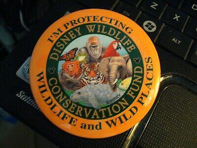 Disney Wildlife Conservation Fund Lapel Pin - Vintage Walt Disney Button Badge
