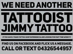 Tattoo Artist Wanted Jobs Gumtree Australia Free Local Classifieds