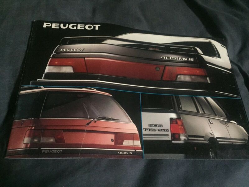 1990 Peugeot 404 505 USA Market Full Line Color Brochure Catalog Prospekt
