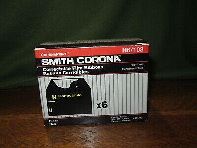 Box Of 5 New Snith Corona H67108 Correctable Film Typewriter Ribbons-black