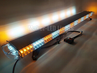 63 Light Bar Led Warn Emergency Response Wrecker Tow Truck Strobe Amber White