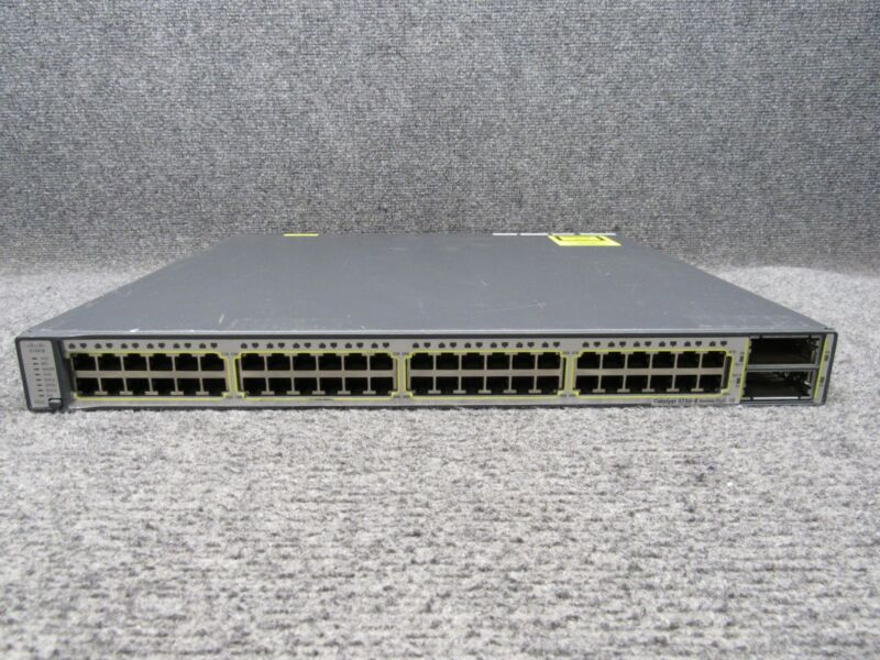 Cisco Catalyst 3750-e Series Poe-48 Port Network Switch Ws-c3750e-48pd-s V03