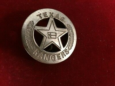 Texas Ranger Badge (Badge: Texas Ranger, with Flag Center, Lawman, Police, Old)