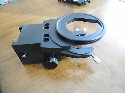 Olympus Bhs Bh2 Bh-2 Condenser And Stage Holder For Microscope