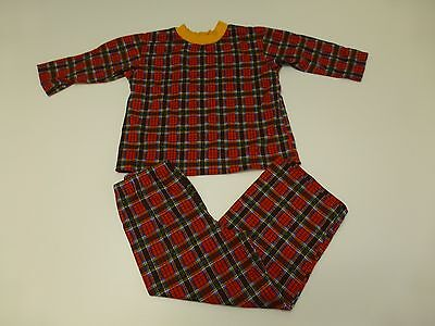 Girls Pajamas Size 8-10 Plaid Floral Two Piece Capri Pajama Set Great Condition (Girls Capri Pajamas)