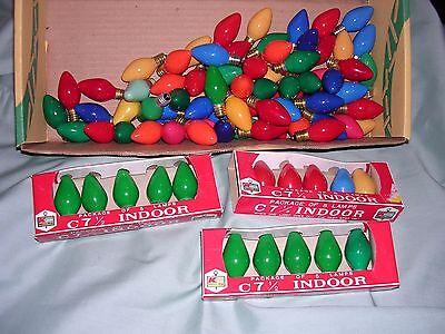 Christmas Bulbs Bulk (LOT OF 100 TESTED C-7 COLORED CHRISTMAS BULBS C7)