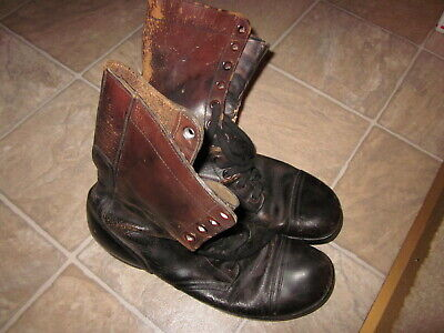 Korean War US Army leather combat boots size 11R !!!