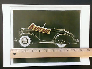 1940 American Bantam Convertible Coupe / Hollywood Advertising Drawing Photo