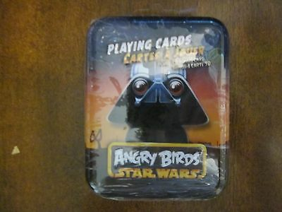 Angry Birds Star Wars Playing Cards Darth Vader - Tin w Bonus 3D Card - NEW