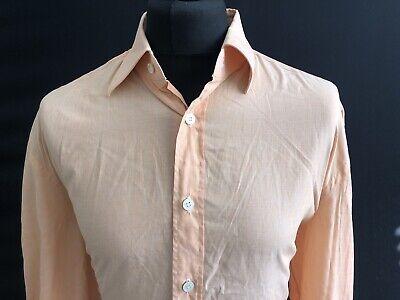 "Kiton Shirt, Orange, Size 18.5"", RRP £1,129 *100% Cotton*"