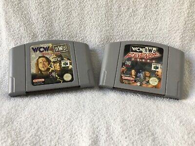 WCW VS NWO World Tour + REVENGE - lot de 2 - Nintendo 64 N64 - Pal EUR
