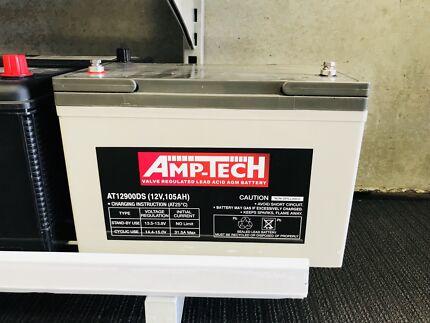 AMPTECH AGM DEEP CYCLE battery 105ah NOW $275 @ CarRite Granville Auburn Auburn Area Preview