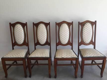 4 x Antique Solid Oak Chairs - Antique Chairs X2 Antiques Gumtree Australia  Brisbane North East - Antique Chairs Brisbane Antique Furniture