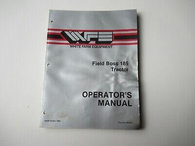 White 185 Field Boss Tractor Operators Manual