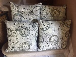 4 Matching Double-Sided Pillows - NEVER USED