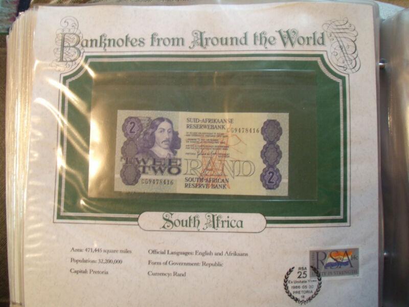 World Banknotes South Africa 1983 2 Rand P 118d UNC Prefix CG