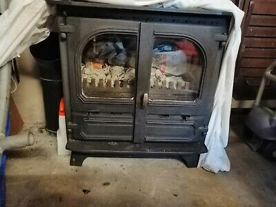 Used, Black double door multi fuel stove. Dudley 12kw. Excellent condition. No marks for sale  Kirkby Stephen