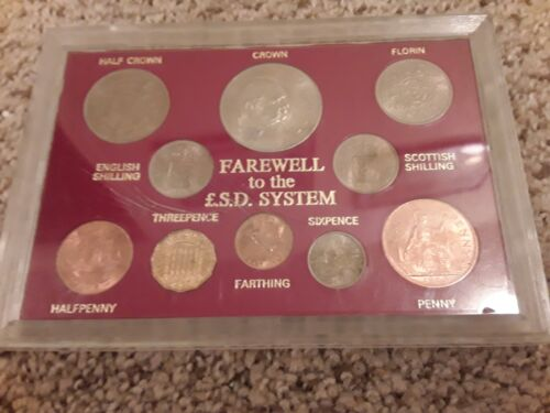 Great Britain Farewell to the £.S.D. (Pound) System Set, Coins from 1954-1967