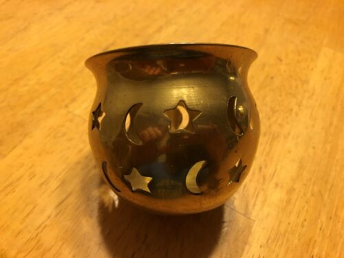 Incense burner, candle holder, 100% brass, wiccan