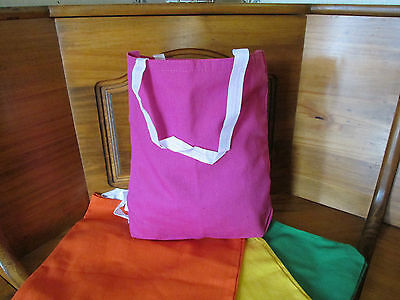 *CLEARANCE* 6 NEON Colored CANVAS TOTE BAGS party - Clearance Party Supplies