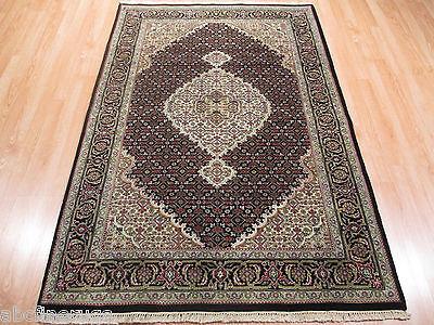4x6 Tabriz MAHI Intricate Museum Handmade Knotted Wool/Silk Oriental RUG 580638