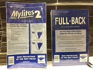 50 E. Gerber Standard Comic Book Mylites 2 Bags (725M2) & Full Backs (700FB)