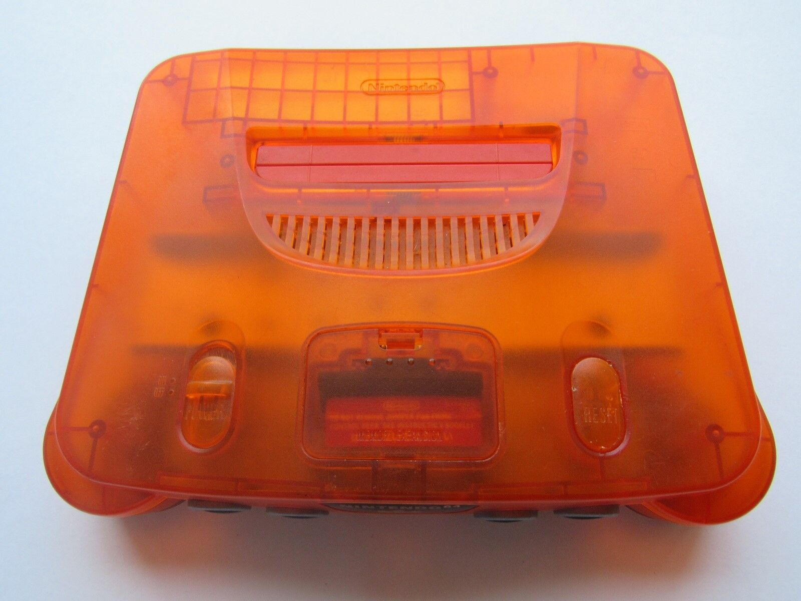 *GOOD* Nintendo 64 N64 OEM Video Game Console System Funtastic Pokemon Gold Rare Fire Orange *Console & Jumper Pack*