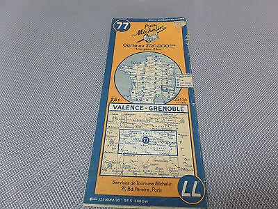 Card Michelin No. 77 Valence-Grenoble 1946/Collector Bibendum Vintage