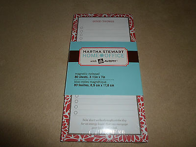 80 Sheet Martha Stewart Home Office Magnetic Notepad3 12 X 7new In Package