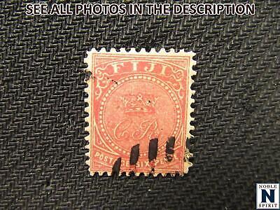 NobleSpirit No Reserve (CJ) Scarce Top of Set Fiji 17 XFU = $325 CV 6p Rose