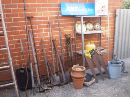 GARDEN, TOOLS, SALVAGE ITEMS FOR SALE -- MUST GO
