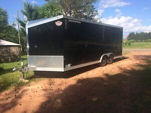 23 foot enclosed all aluminum trailer