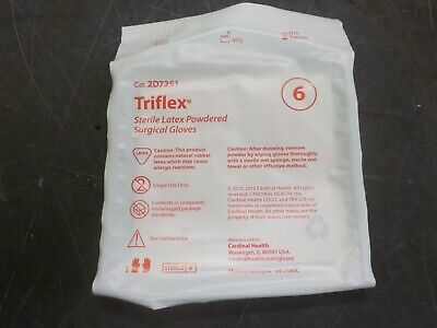 Cardinal Health Triflex Latex Surgical Gloves Sterile Size 6 40 Pairsbx...