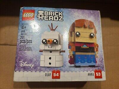 Lego 41618 BrickHeadz DIsney Frozen Anna 53 Olaf 54 Building Set 201 Pcs