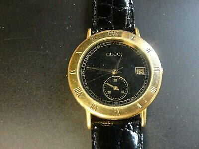 Gucci 3800M Gold Plated Vintage Fashion Watch