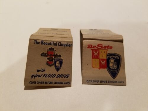 Vintage Desoto advertising matchbooks (2)