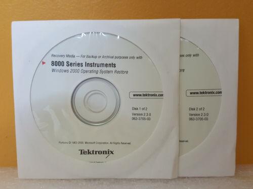 Tektronix 063-3705-00 2 Disk Set, Windows 2000 For Use w/Tektronix 8000 Series