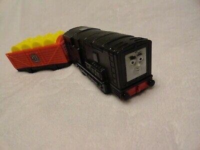 2010 Mattel V1905 Motorized Thomas Talking Diesel w/Attached Cargo Car