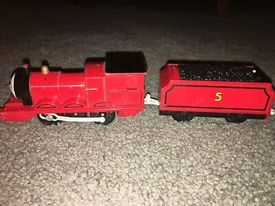 Thomas The Train 2009 Mattel JAMES TRACKMASTER Motorized WORKS / TALKS