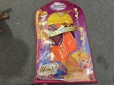Ciao 11185–Star Bloomix Costume Winx Club 7-9 anni Stella (Arancione,