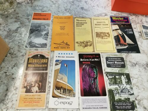 Miscellaneous travel brochures from the 1980s