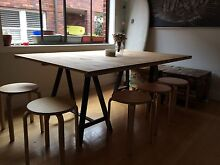 Homemade Pine Board Dining Table Bondi Beach Eastern Suburbs Preview