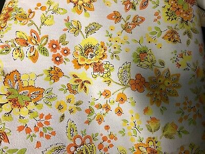 3 Rolls Vintage 1960's - 1970's Yellow & Orange Flower Wallpaper ReTrO -