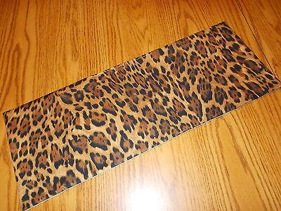 Leopard Cheetah decoration MINI table runner Toilet Tank Topper skin jungle  - Leopard Table