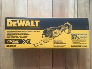Dewalt outil oscillant 20v brushless XR tool NEUF new DCS355B